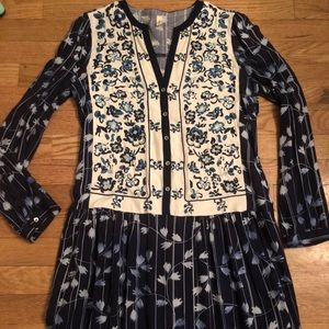 Embroidered Anthropologie dress